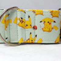A Day With Pikachu Dog Collar (Martingale, Buckle or Tag)