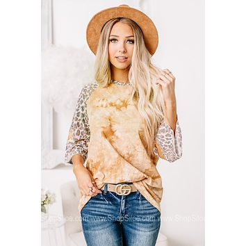 Easy Going Marbled Cheetah Print Top