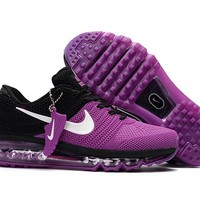 New Nike Air Max Purple black Train Running Shoes -2017 Release