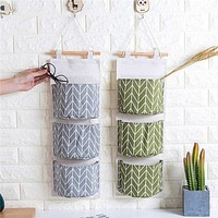 3 Layer Pouch Wall Hanging Storage Bag Kitchen