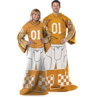 Tennessee Volunteers NCAA Adult Uniform Comfy Throw Blanket w- Sleeves