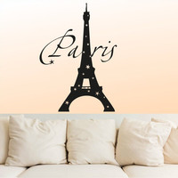 Wall Decal Vinyl Sticker Decals Art Decor Sign Lettering Paris Mural France The Eiffel Tower Stars City France BedroomDorm Office(r1079)