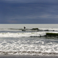 Cocoa Surfer Photographic Print