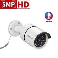 OHWOAI 5MP Home Security POE Video Camera,Wired Outdoor/Indoor Surveillance IP Camera with Audio,Bullet Poe IP67 Waterproof Camera,Night Vision,Motion Detection,Work for OHWOAI POE Camera System.