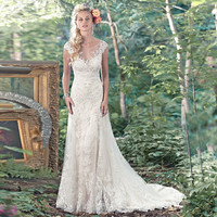 Tulle Wedding Dresses Vintage See Through Wedding Dresses White Full Length