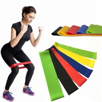 Resistance Bands Elastic Rubber Bands Fitness Loop Yoga Pilates Home GYM Fitness Exercise Workout Training Pull Rope Expander