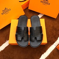 Hermes Men's Leather Sandals