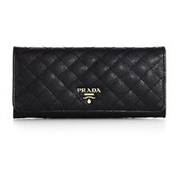 Quilted Saffiano Continental Wallet