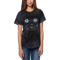 The Mountain Black Kitten Face Black Boyfriend Fit Tee Shirt at Zumiez : PDP