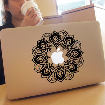 flower Decal sticker- macbook decal/ macbook pro decal/ macbook air decal sticker/ mac decal/ Sticker keyboard decal