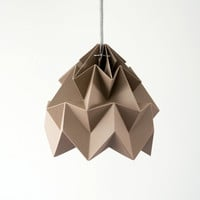 Moth origami lampshade brown