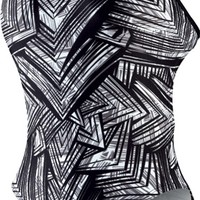 NIKE SWIM Female Scatter Brain Cut-Out Tank - Metro Swim Shop