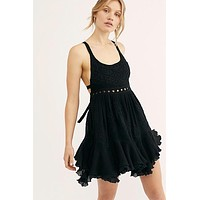 Free People Encrusted Dress- Black
