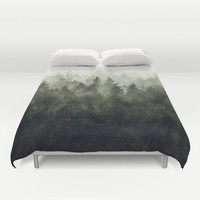 The Heart Of My Heart // Green Mountain Edit Duvet Cover by Tordis Kayma | Society6
