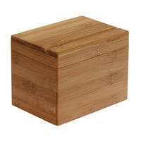 Oceanstar Bamboo Recipe Box with Divider