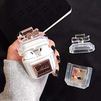 Luxury Perfume Bottle  - Protective Case Cover Compatible with the Apple Airpods Gen 1 or 2 with Wireless Charging Headphones