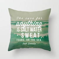 Salt Water Cure Throw Pillow by Olivia Joy StClaire