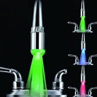TFSeven® Water Glow LED Faucet Light with Temperature Sensor + Three Optional Colors