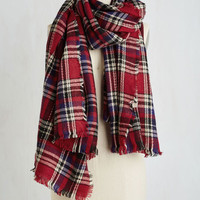 Chillin' Haute Scarf in Red by ModCloth