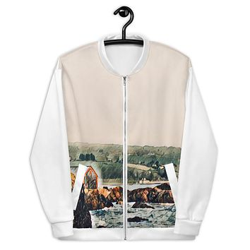 """Game of Thrones Rocky Cove"" Unisex Bomber Jacket Travel Themed Gift"