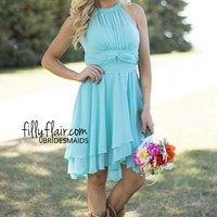 When the night is young in turquoise Bridesmaid dress