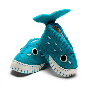 Whale Zooties Baby Booties - Asia