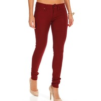 Sale-pepper Red Stretch Jegging Pants