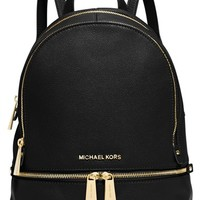 MICHAEL Michael Kors 'Small Rhea Zip' Leather Backpack