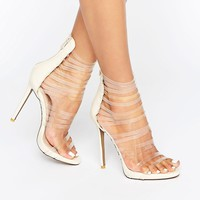 Public Desire Imani Clear Strap Heeled Sandals