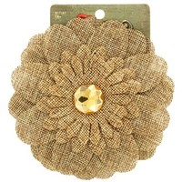 Natural Burlap Daisy Hair Clip | Shop Hobby Lobby