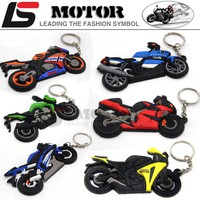 CAR MOTOR MOTORCYCLE BIKE SOFT RUBBER model LOGO For Kawasaki HONDA YAMAHA KEYCHAIN KEYRING KEY CHAIN KEY RING