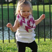 Purple Chevron Toddler Infinity Scarf