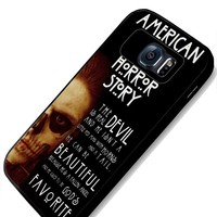 American Horror Story Quotes Samsung Galaxy S4 S5 S6 Case (samsung s6 black)