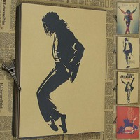 Vintage Paper Retro anime poster - Michael Jackson -Posters kid cudi poster Vintage Home Wall sticker Decor 30*21CM