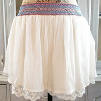 BEST OF BOTH WORLDS LACE TRIM SHORTS