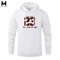 JORDAN 23 Print Brand Clothing Men Fashion Streatwear Fleece Pullover Top Quality Mens Hoodies Sweatshirts Male Youth Pullover