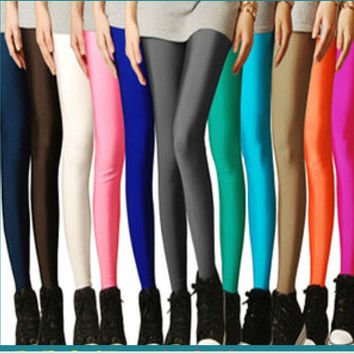 Leggings, Candy Colored Mix & Match, High Stretched Jeggings, Many Colors