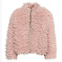 LUCLUC Trendy Pink Faux Wool Coat - LUCLUC
