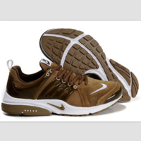 NIKE new lightweight casual shoes sports shoes Light brown white
