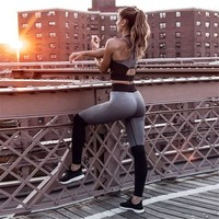 lady workout set Sport suit Clothes sports bra women yoga sets gym fitness sportswear female tracksuit active wear