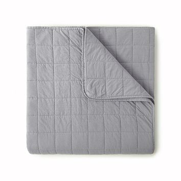 4 Square Charcoal Coverlet by Peacock Alley