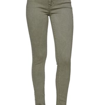 High Rise Skinniest Olive Jeans - Womens Jeans - Green -