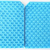 Fish scales Mermaid lines silicone fandont mold Silica gel moulds Mermaid Chocolate molds Fish scales candy mould silicone molds