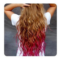 Pink Ombre Clip In Hair Extensions - Customizable - 100% Human Hair