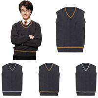 Harry Potter - Hufflepuff/Ravenclaw/Slytherin/Gryffindor Sweater Vest Harry Potter Cosplay Costume Holloween Costume