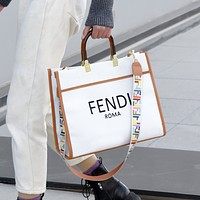 Fendi FF hot sale classic tote bag handbag fashion women's shoulder messenger bag