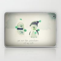 YOU ARE THE SNOWFLAKE OF MY LIFE Laptop & iPad Skin by SUNLIGHT STUDIOS | Society6
