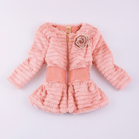 Mia Belle Baby Pink Faux Fur Jacket - Toddler & Girls   Something special every day