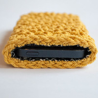 Crocheted Iphone 5 case with lining, crochet Iphone 5 case, Iphone 5s case, Iphone 5s sleeve,phone wallet,iphone 5 cover,Christmas gift idea