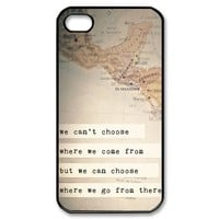 Perks of Being A Wallflower Quotes iPhone 4,4s Case Cover - Snap-on Hard-JD Design